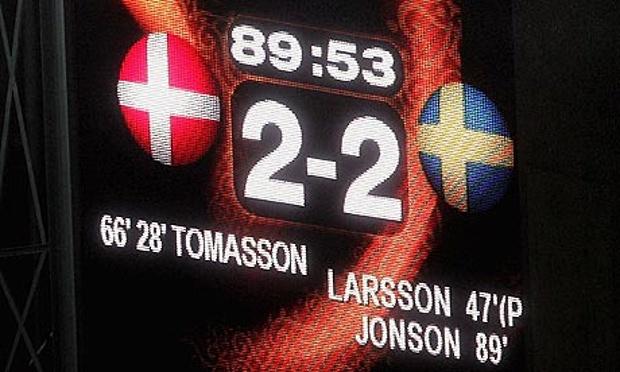 Sweden vs. Denmark ( round 1)